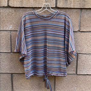 Zara rainbow open knit top